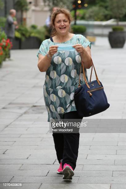 Ruth Jones seen leaving Heart Breakfast Radio Studios on September 3 2020 in London England