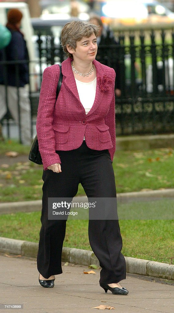 Ruth Kelly at the Robin Cook Memorial Service at St Margarets Church Westminster in London.
