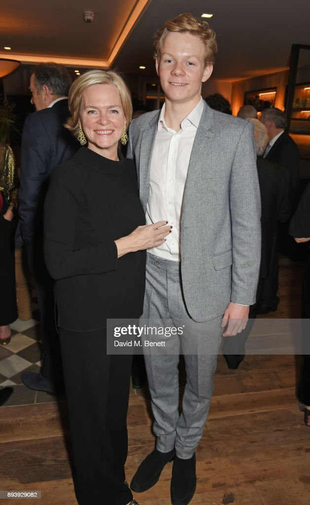 Ruth Kennedy, Lady Dundas, and Alexander Dundas attend Alexander Dundas's 18th birthday party hosted by Lord and Lady Dundas on December 16, 2017 in London, England.