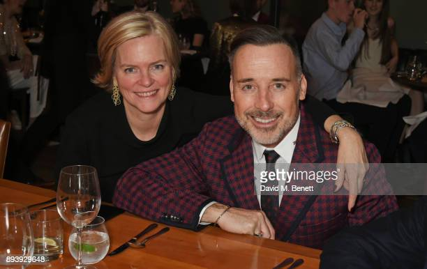 Ruth Kennedy Lady Dundas and David Furnish attend Alexander Dundas's 18th birthday party hosted by Lord and Lady Dundas on December 16 2017 in London...