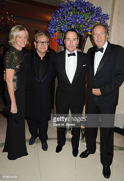 Ruth Kennedy, Sir Elton John, David Furnish and Bruce Dundas attend The Louis Dundas Centre for Children's Palliative Care launch party, at...