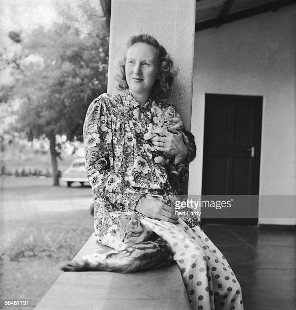 Ruth Khama, nee Williams, wife of the chief of the Bamangwato of Bechuanaland, Seretse Khama, 29th April 1950. Exiled in 1951, Khama returned in 1956...