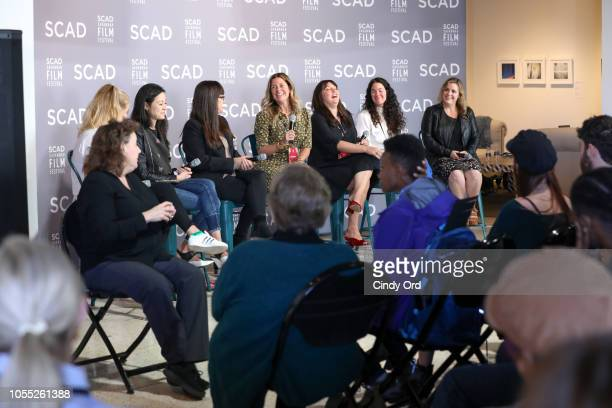 Ruth Kinane Elizabeth Chai Vasarhelyi Paula DuPrŽ Pesmen Amy Nauiokas Shannon Gibson Lizzie Nastro and Kaila York speak at the ÒWonder Women' Panel...