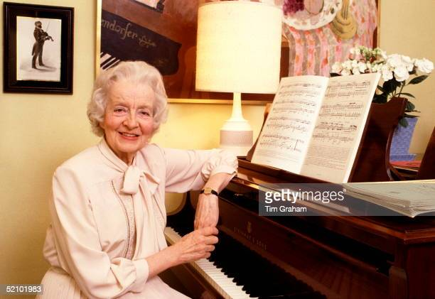Ruth Lady Fermoy Sitting At Her Piano In Her Flat In Eaton Square Belgravia