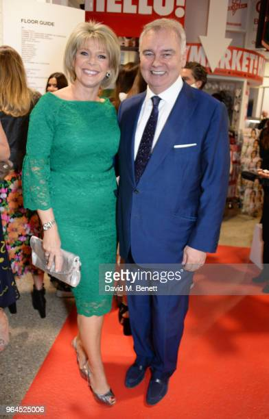 Ruth Langsford and Eamonn Holmes attend Hello Magazine's 30th anniversary party at Dover Street Market on May 9 2018 in London England