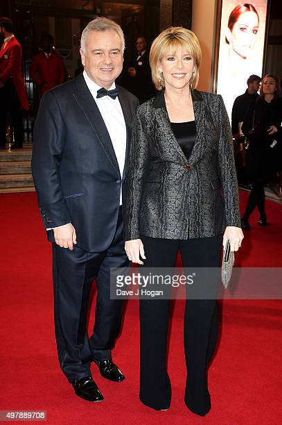 Ruth Langsford and Eamonn Holmes attend the ITV Gala at London Palladium on November 19 2015 in London England