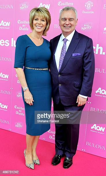 Ruth Langsford and Eamonn Holmes attend the Manchester United Foundation Ladies Lunch at Old Trafford on October 6 2014 in Manchester England