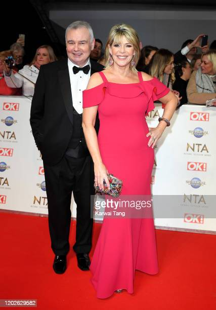 Ruth Langsford and Eamonn Holmes attend the National Television Awards 2020 at The O2 Arena on January 28, 2020 in London, England.
