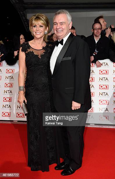 Ruth Langsford and Eamonn Holmes attend the National Television Awards at 02 Arena on January 21 2015 in London England