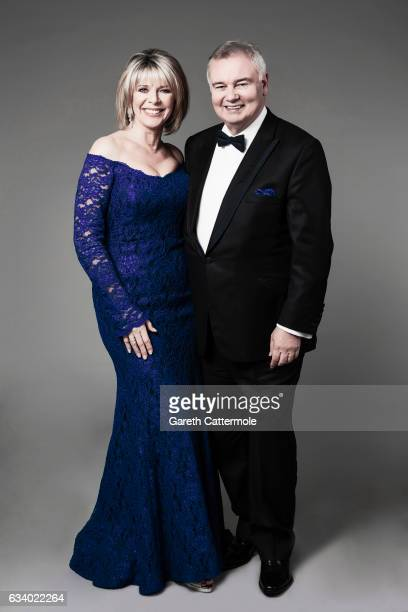 Ruth Langsford and Eamonn Holmes attend the National Television Awards Portrait Studio at The O2 Arena on January 25 2017 in London England