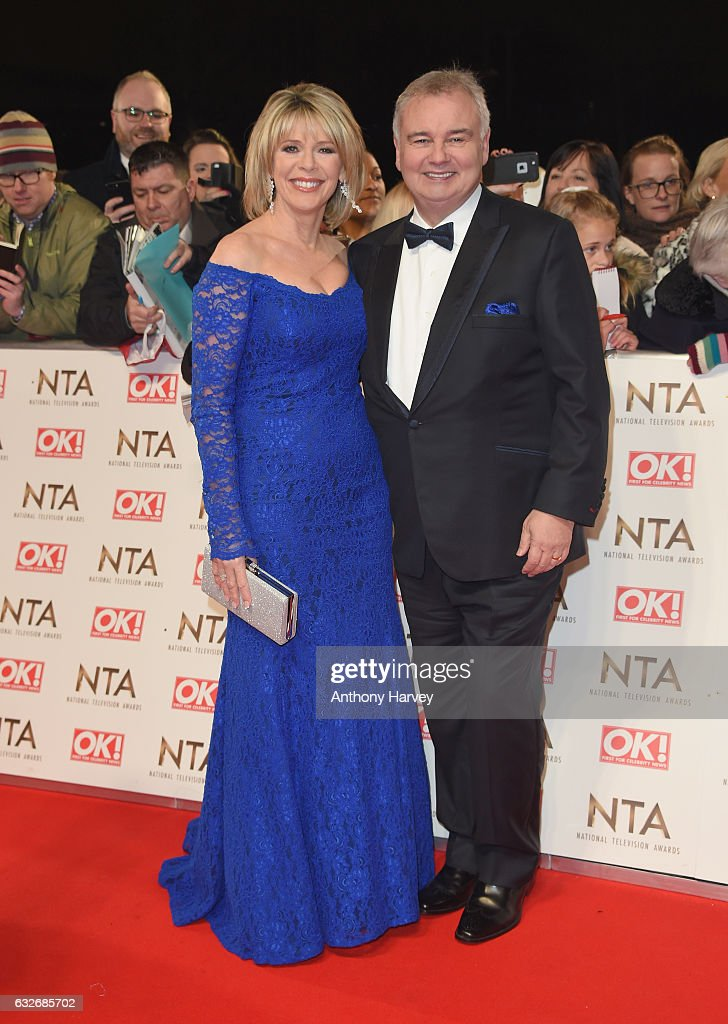 Ruth Langsford and Eamonn Holmes attend the National Television Awards on January 25, 2017 in London, United Kingdom.