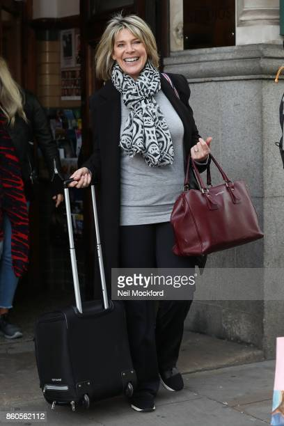 Ruth Langsford seen leaving a studio in Chelsea on October 12 2017 in London England