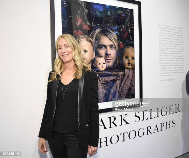 Ruth Levy poses during a private viewing of Mark Seliger 'Photographs' at Chase Contemporary on May 16 2018 in New York City