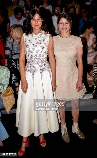 Ruth Llopis and Nuria del Rio attend Teresa Helbig show at Mercedes Benz Fashion Week Madrid Spring/ Summer 2019 on July 8 2018 in Madrid Spain on...
