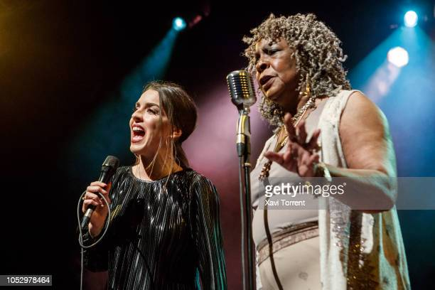 Ruth Lorenzo and Martha Reeves & The Vandellas perform in concert at sala Barts during Festival Mil.lenni on October 24, 2018 in Barcelona, Spain.
