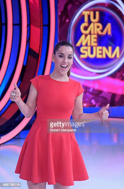 Ruth Lorenzo attends a press presentation for the 4th season of 'Tu Cara Me Suena' at the Antena 3 studios on September 17, 2015 in Barcelona, Spain.