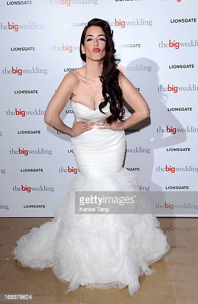 Ruth Lorenzo attends a special screening of 'The Big Wedding' at May Fair Hotel on May 23 2013 in London England
