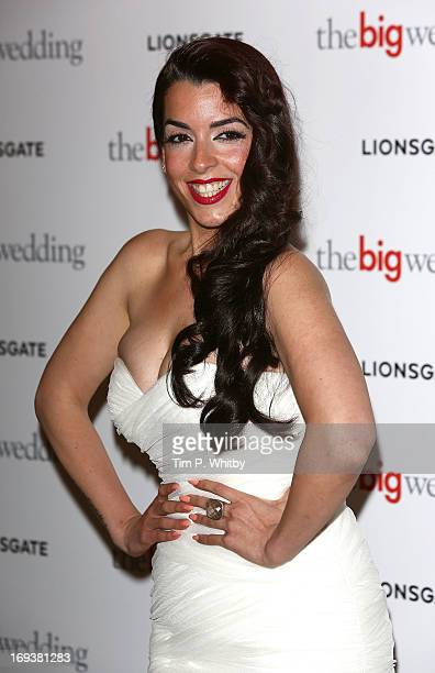 Ruth Lorenzo attends Special screening of 'The Big Wedding' at May Fair Hotel on May 23 2013 in London England