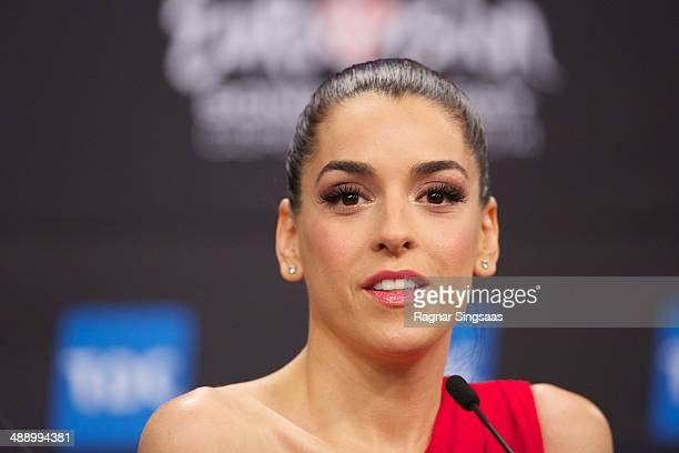 Ruth Lorenzo of Spain attends a press conference ahead of the Grand Final of the Eurovision Song Contest 2014 on May 9 2014 in Copenhagen Denmark