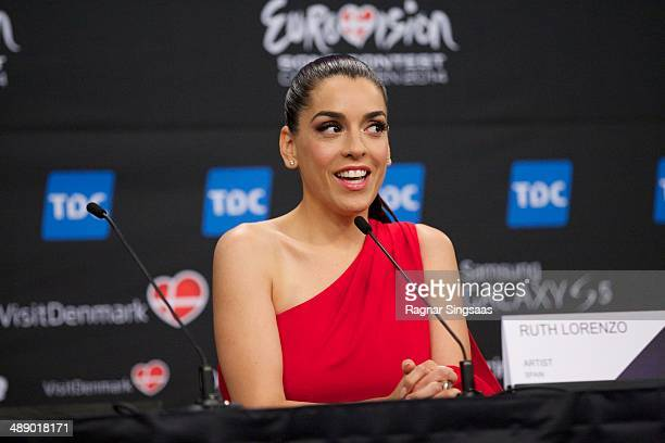 Ruth Lorenzo of Spain attends a press conference ahead of the Grand Final of the Eurovision Song Contest 2014 on May 9, 2014 in Copenhagen, Denmark.