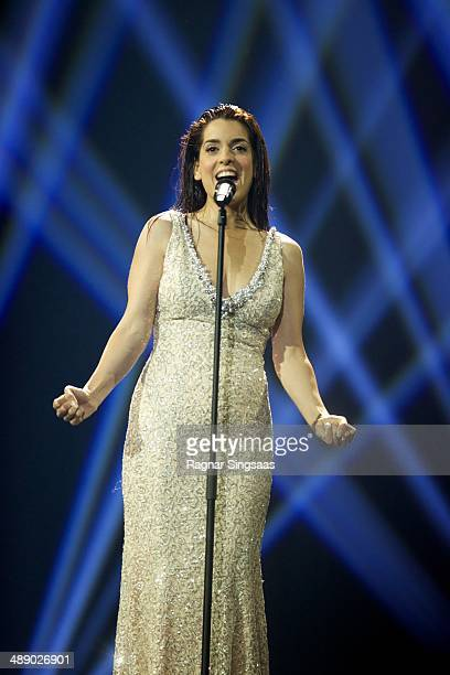 Ruth Lorenzo of Spain performs during a dress rehearsal ahead of the Grand Final of the Eurovision Song Contest 2014 on May 9 2014 in Copenhagen...
