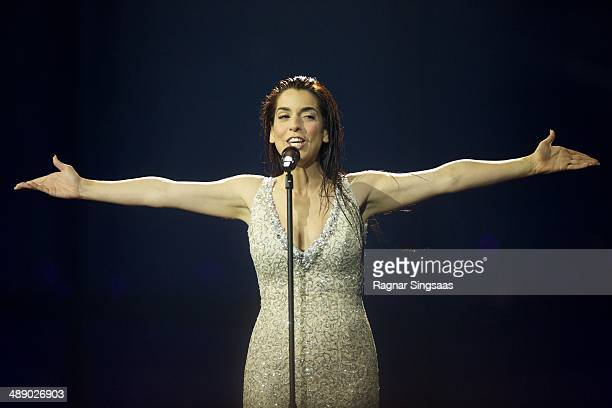 Ruth Lorenzo of Spain performs during a dress rehearsal ahead of the Grand Final of the Eurovision Song Contest 2014 on May 9, 2014 in Copenhagen,...