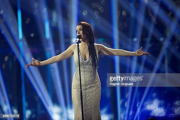 Ruth Lorenzo of Spain performs on stage during the grand final of the Eurovision Song Contest 2014 on May 10, 2014 in Copenhagen, Denmark.