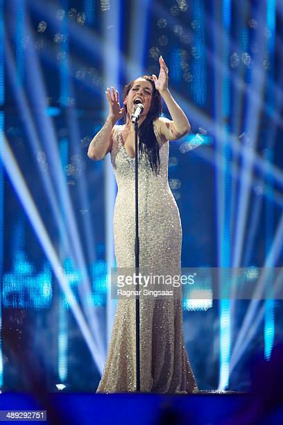 Ruth Lorenzo of Spain performs on stage during the grand final of the Eurovision Song Contest 2014 on May 10 2014 in Copenhagen Denmark