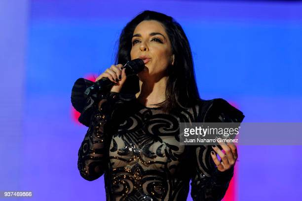 Ruth Lorenzo performs during 'La Noche De Cadena 100' charity concert at WiZink Center on March 24, 2018 in Madrid, Spain.