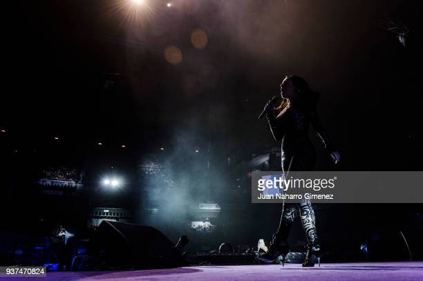 Ruth Lorenzo performs during 'La Noche De Cadena 100' charity concert at WiZink Center on March 24 2018 in Madrid Spain