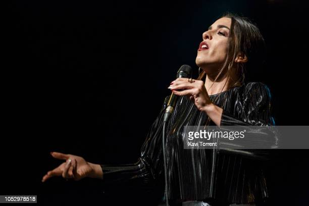 Ruth Lorenzo performs on stage in Martha Reeves & The Vandellas concert at sala Barts during Festival Mil.lenni on October 24, 2018 in Barcelona,...