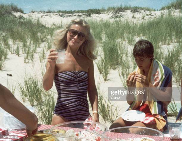 ACCESS*** Ruth Madoff and her son Andrew Madoff during July 1981 in Montauk NY