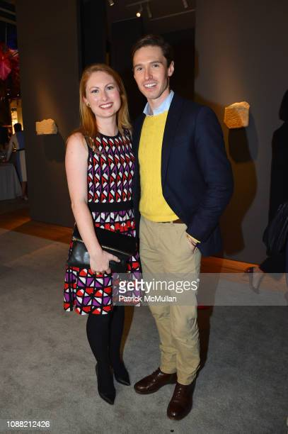 Ruth Mauldin and Andrew Nodell attend Wendy Goodman and Zac Posen Host Young Collector's Night at the Winter Show A Benefit For East Side House at...