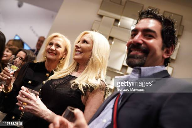 Ruth Miller Colleen Rein and Mark Masone attend SohoMuse Launch at Christopher Guy New York on October 17 2019 in New York City