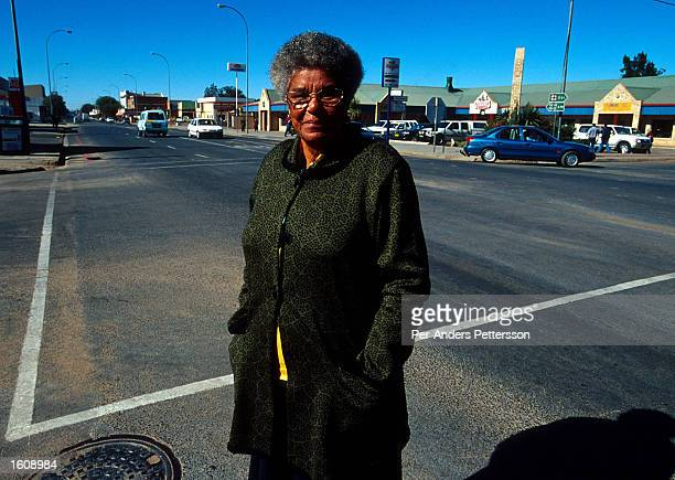 Ruth Mompati the first black mayor of Vryburg a small and very conservative farming town about 400 km west of Johannesburg South Africa talks a walk...