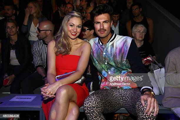 Ruth Moschner and Andre Borchers attends the 'Designer for Tomorrow' by Peek Cloppenburg and Fashion ID show during the MercedesBenz Fashion Week...