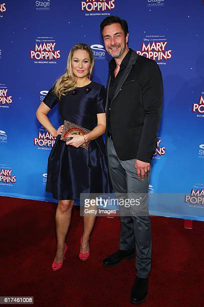 Ruth Moschner and Marco Schreyl attend the red carpet at the premiere of the Mary Poppins musical at Stage Apollo Theater on October 23 2016 in...