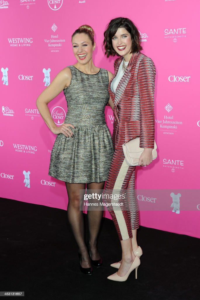 Ruth Moschner and model Marie Nasemann attends the Closer Charity Event SMILE at Hotel Vier Jahreszeiten on December 2, 2013 in Munich, Germany.