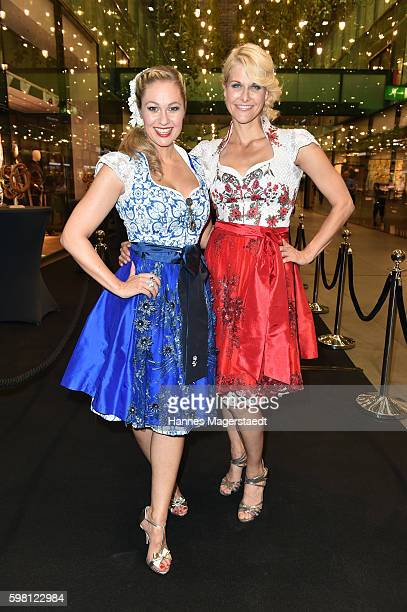 Ruth Moschner and Natascha Gruen during the dresscoded goes Wasen event at Armani Caffe on August 31 2016 in Munich Germany Dresscoded will lend out...