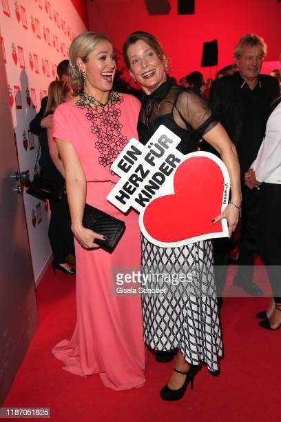 Ruth Moschner and Valerie Niehaus during the Ein Herz Fuer Kinder Gala at Studio Berlin Adlershof on December 7 2019 in Berlin Germany