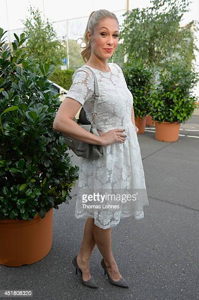 Ruth Moschner arrives for the Opening Night by Grazia fashion show during the MercedesBenz Fashion Week Spring/Summer 2015 at Erika Hess Eisstadion...