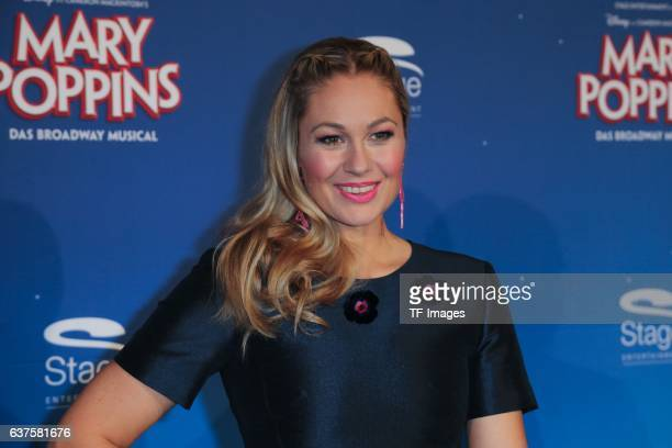 Ruth Moschner attend the red carpet at the premiere of the Mary Poppins musical at Stage Apollo Theater on October 23 2016 in Stuttgart Germany