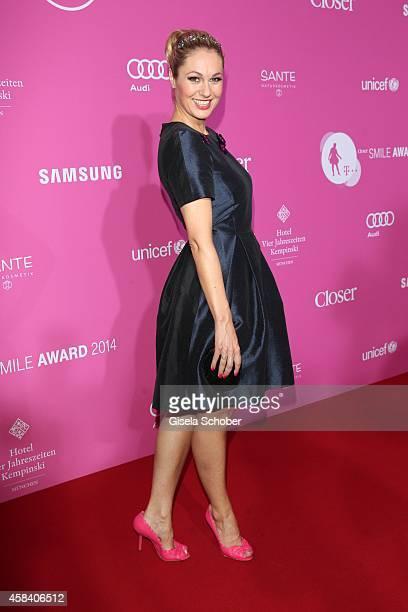 Ruth Moschner attends the CLOSER Magazin Hosts SMILE Award 2014 at Hotel Vier Jahreszeiten on November 4, 2014 in Munich, Germany.
