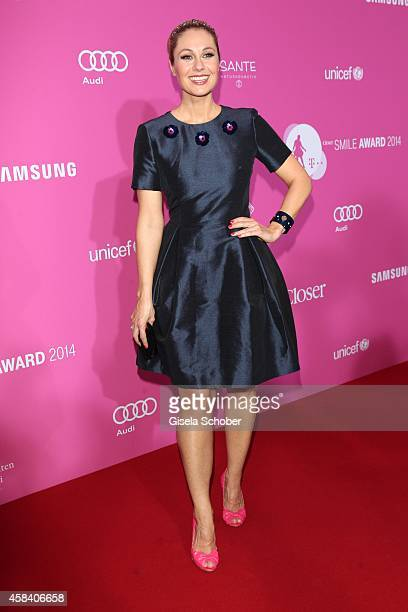 Ruth Moschner attends the CLOSER Magazin Hosts SMILE Award 2014 at Hotel Vier Jahreszeiten on November 4 2014 in Munich Germany