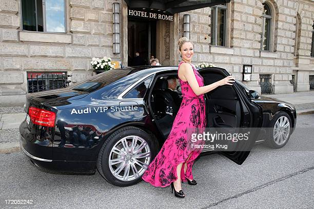 Ruth Moschner attends the Montblanc De La Culture Arts Patronage Award 2013 at Hotel De Rome on July 01 2013 in MUNICH Germany