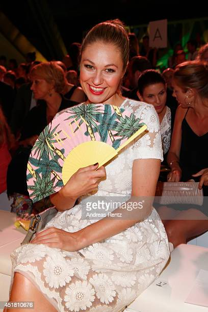 Ruth Moschner attends the Opening Night by Grazia fashion show during the MercedesBenz Fashion Week Spring/Summer 2015 at Erika Hess Eisstadion on...