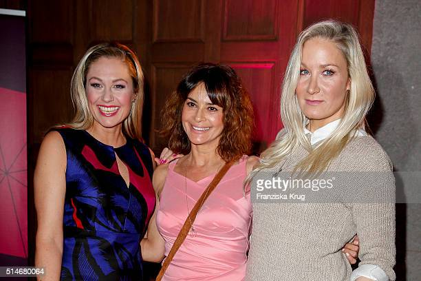 Ruth Moschner Gitta Saxx and Janine Kunze attend the JT Touristik Celebrates ITB Party on March 10 2016 in Berlin Germany