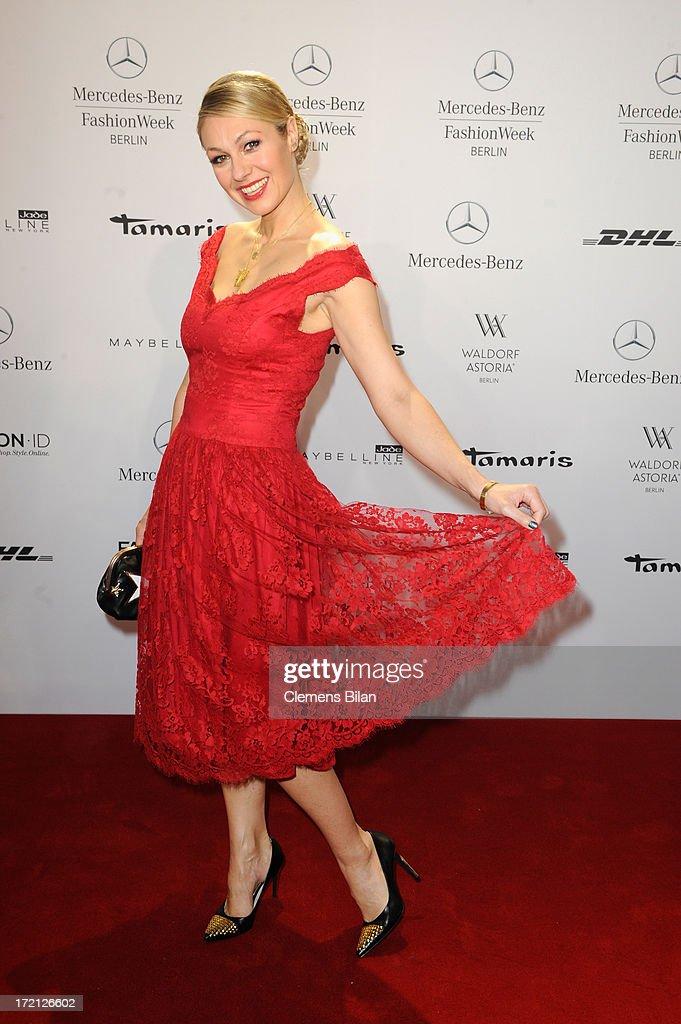 Lena Hoschek Arrivals - Mercedes-Benz Fashion Week Spring/Summer 2014 : News Photo