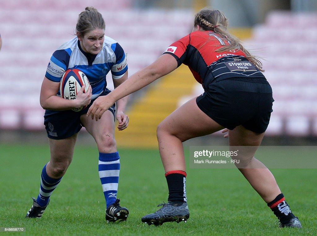 Darlington Mowden Park Sharks v Gloucester-Hartpury Women's RFC: Tyrrells Premier 15s : News Photo