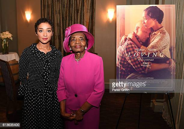 Ruth Negga and Dr Christine Farris attend LOVING VIP Screening Private Reception hosted by Ruth Negga at Davio's on October 9 2016 in Atlanta Georgia